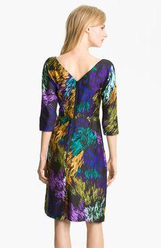 Milly 'Delaney' Print Silk Sheath Dress   Nordstrom