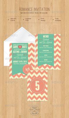 Romance Invitation — Photoshop PSD #shape #wedding package • Available here → https://graphicriver.net/item/romance-invitation/4624297?ref=pxcr