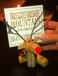Cool little Wine Cork Reindeer!