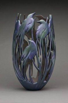 Crow vase
