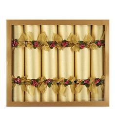 CELEBRATION CRACKERS Gold pin luxury Christmas crackers 6-pack £69