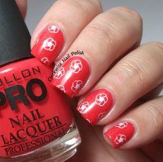 The Clockwise Nail Polish: Mollon Pro 178 Hypnose & Pond Nail Art