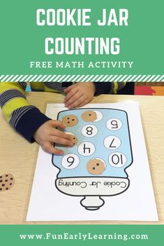 Fun free printable for learning number identification, matching, and counting! Perfect for preschool, kindergarten and RTI. - Kids education and learning acts Montessori Math, Kindergarten Activities, Preschool Activities, Learning Numbers Preschool, Preschool Readiness, Preschool Cooking, Early Learning Activities, Project Based Learning, Kids Learning