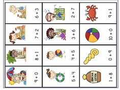 Here's a summer themed set of station activities focused on addition and subtraction to 10.