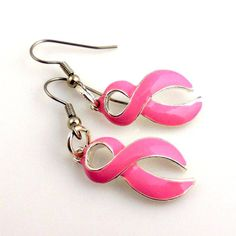 Breast Cancer Awareness Earrings Breast Cancer by ramonahall, $12.00