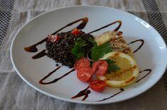 Belugalinsen-Salat mit Fischfilet - Rezeptra - Food and More