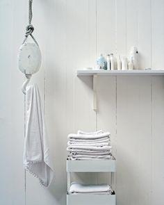 Verhuistakel als handdoekhaak