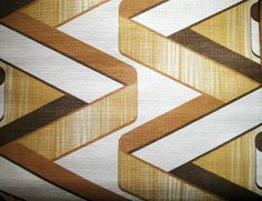 Brown Zig-Zag Retro Pattern 1970s