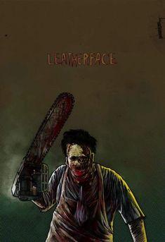 "Horror Movie Art : The Texas Chainsaw Massacre 1974 ""Leatherface"" by darioIII @ deviantart"