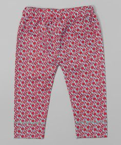 Love this Red Calico Organic Leggings - Infant by kate quinn organics on #zulily! #zulilyfinds