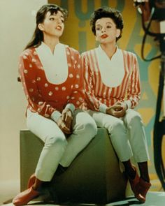 Judy Garland con su hija Lisa Minnelli