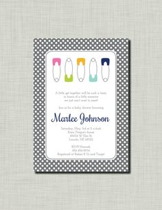 Gender Neutral Baby Shower Invitation diaper by BusyChickadees, $12.00
