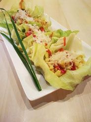 Chicken Crunchy with fresh lettuce :)