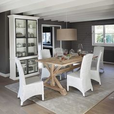 Credenza bianca in legno L 115 cm Ostende | Maisons du Monde