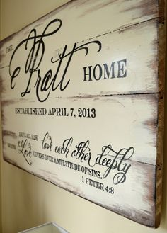 Family Name Sign 24x30 {customizable} - Aimee Weaver Designs
