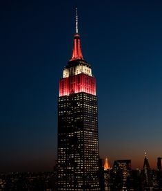 2/7/2018: Red and white for the 41st annual Empire State Building Run-Up, presented by Turkish Airlines, powered by Challenged Athletes Foundation.