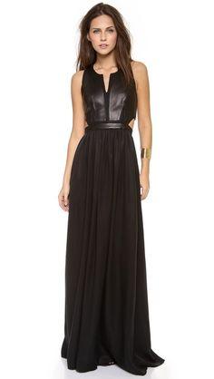 Pretty amazing! Rebecca Taylor Sleeveless Cutout Maxi Dress