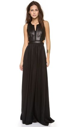 Pretty amazing! Rebecca Taylor Sleeveless Cutout Maxi Dress