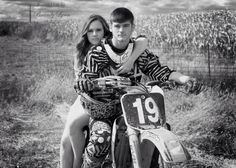 Couple dirt bike picture