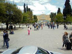 Atenas-Praça Sintágma e Parlamento Grego