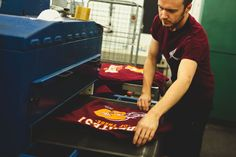 Here's Ryan from our screen team checking a sweater that we've just cooked up in the oven!