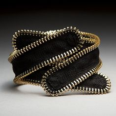 "Zipper Bracelet, ""Twist"" – Mora Designer Jewelry"