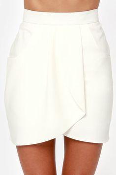 Notorious OMG Ivory Envelope Skirt