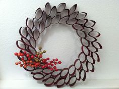 Toilet Paper Roll Wreath Craft Toilet Paper Roll Wreath Craft Bonnin Designs The Inspiration Is In Your Bathroom Holiday Wreath Wreath Crafts, Diy Wreath, Christmas Crafts, Wreath Ideas, Paper Wreaths, Christmas Ornaments, Toilet Paper Roll Art, Toilet Paper Roll Crafts, Diy Paper