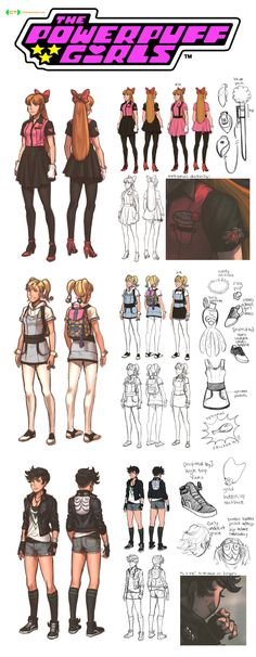 Powerpuff Girls CT character designs FULL by dCTb on deviantART...i totally just sang the theme song! :)