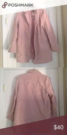 Forever 21 Dusty Pink Peacoat Fuzzy Fuzzy and Cute Forever 21 Jackets & Coats Pea Coats