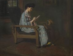 """A Young Lady Sketching,"" Agnes Millen Richmond, 1907, oil on canvas, 16 x 20"", private collection."