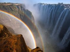 Breathtaking Rainbows Over the World's Largest Waterfall - My Modern Metropolis