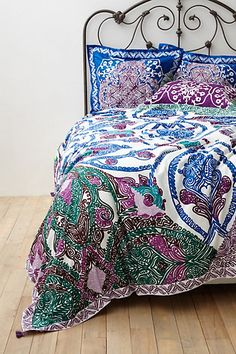 Isla Duvet #anthropologie -- would love to find a fabric like this to reupholster living room chair