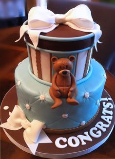 Cake Design Start to Finish ~ Teddy Bear & Baby Cake @Bonnie S. Gordon College of Confectionary Arts