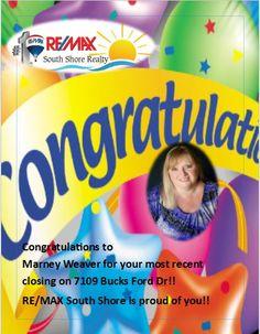 Congrats Marney Weaver!