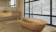 Vasca da bagno in legno 05