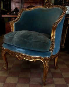Louis XV Bergere Chair found on http://parisapartment.wordpress.com/