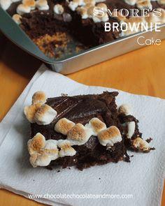 Smores Brownie Cake