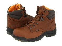 "Timberland PRO TiTAN® 6"" Safety Toe Coffee Full-Grain Leather - Zappos.com Free Shipping BOTH Ways"