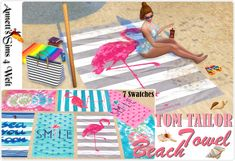 Annett's Sims 4 Welt: TOM TAILOR Beach Towel