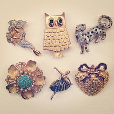 Brooches.