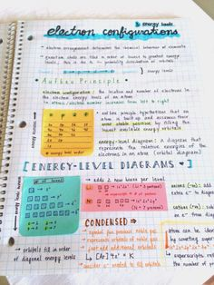 studyorcry: Really old chem notes with cool layout