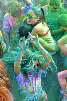 So it's a color run, not a music festival, but still looks like a great time!