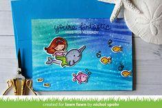Lawn Fawn Video {7.7.17} An Underwater Tri-Fold Card with Nichol | the Lawn Fawn blog | Bloglovin'
