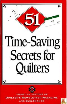 ~ 51 TimeSaving Secrets for Quilters - Ana Lopes - Picasa Web Albums...
