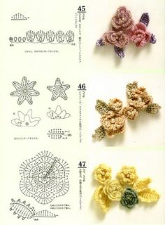 lodijoella: Patrones a crochet flores de primavera