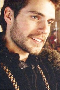 Darling dashing Duke of Delight!!! ;) Henry Cavill. Can't see too much of the costume, but who's looking at the costume with that face!