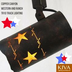 Copper Canyon Western and Ranch Track Lighting #RustictLighting #TrackLighting #RanchLife