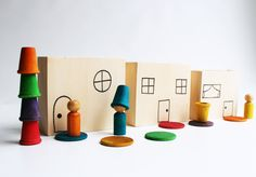 Stacking Town a Montessori and Waldorf Inspired di MamaMayI