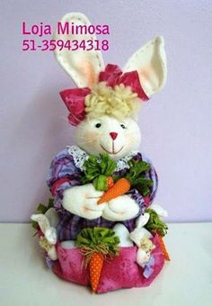 Templates For Crafts Fabric: Rabbit with molds Arts And Crafts, Diy Crafts, Cat Sweaters, Diy Doll, Easter Bunny, Fabric Crafts, Projects To Try, Dolls, Christmas Ornaments